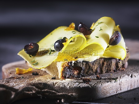 bread with ossau iraty sheeps cheese