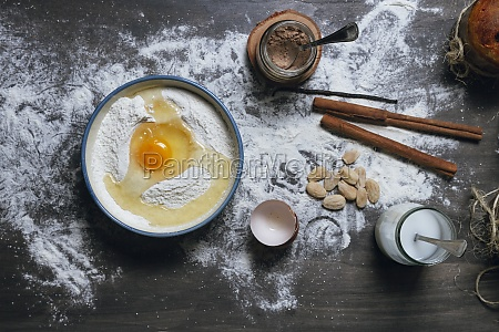 baking ingredients for panettone