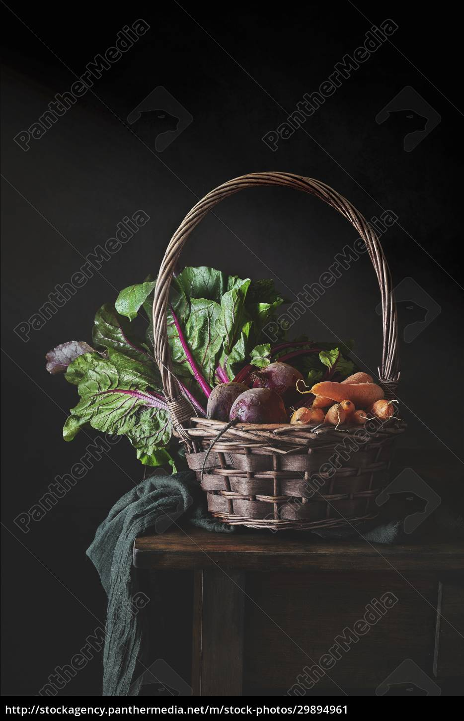 still, life, of, wicker, basket, with - 29894961