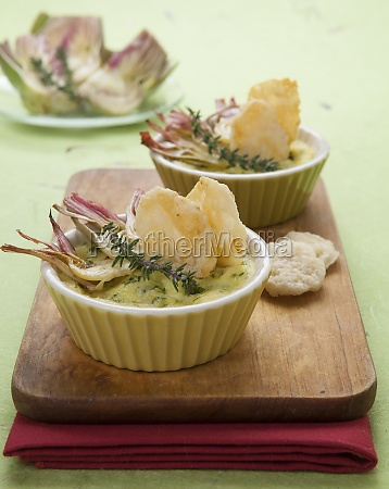 mini artichoke and cheese bakes with