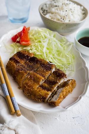 tonkatsu sliced schnitzel from japan