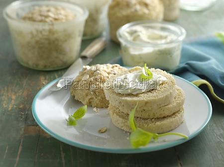 small potato oatbreads baked in glasses