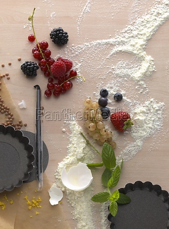a still life with baking ingredients