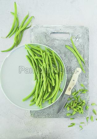 freshly picked green beans