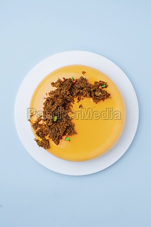 tasty cake with small carrots