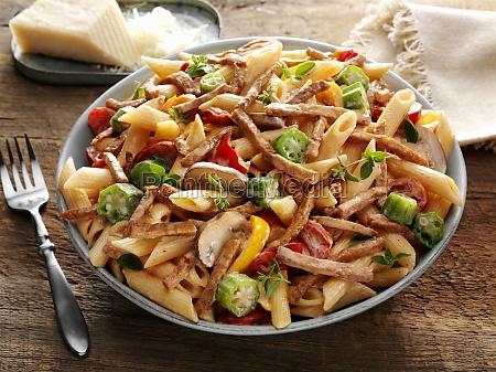 cajun style andouille pasta with okra