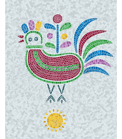 mosaic tiles decorative pigeon