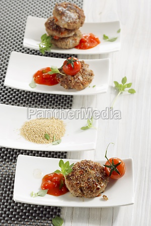 amaranth cutlets with tomato sauce