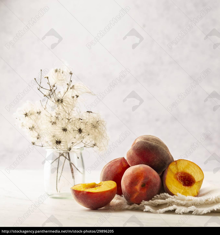 peaches, still, life - 29896205