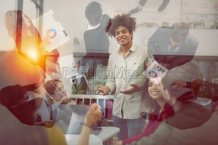 business people that work together in