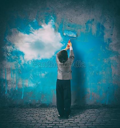 improve your perspective child paints a