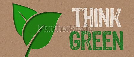 paper cut think green