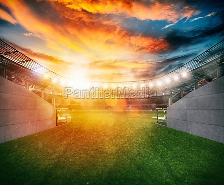 soccer stadium seen by the exit