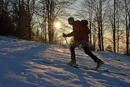 sonnenuntergang im winter auf dem gruenberg