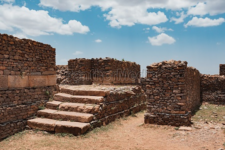 queen of sheba palace ruins in