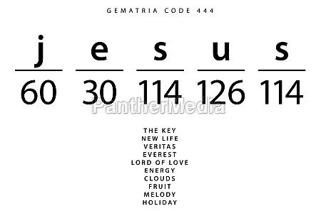 jesus word code in the english