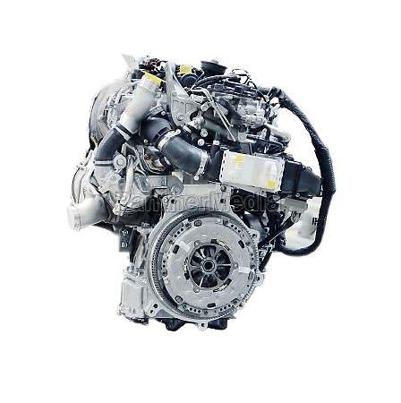 car engine isolated on a white