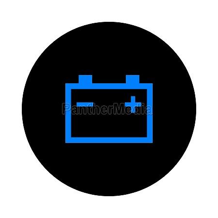 car battery and circle