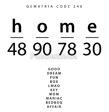 home word code in the english