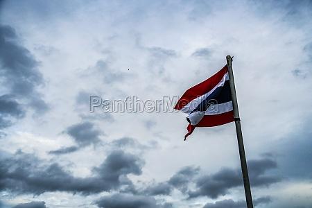 thailand bangkok skyline and cloudy sky