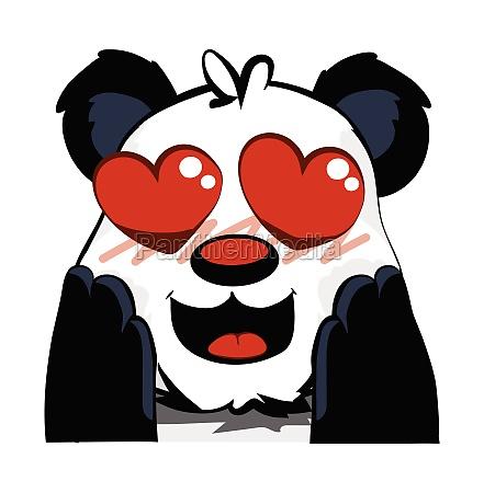 cute panda bear hearts for