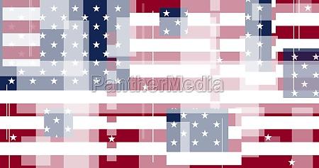 graphic illustration of american flag