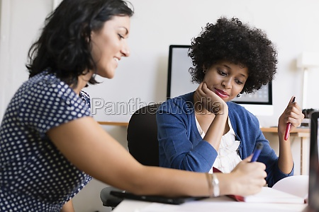 female colleagues in small business start