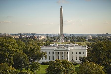united states white house with washington