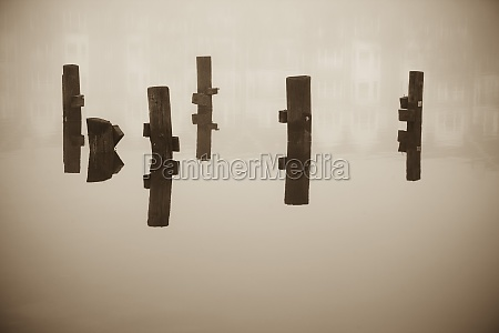 wooden columns in water norfolk virginia