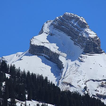 zindlenspitz mountain in schwyz canton