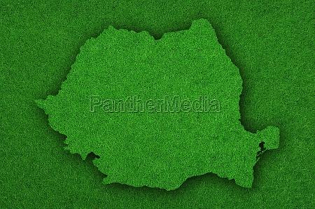 map of romania on green felt