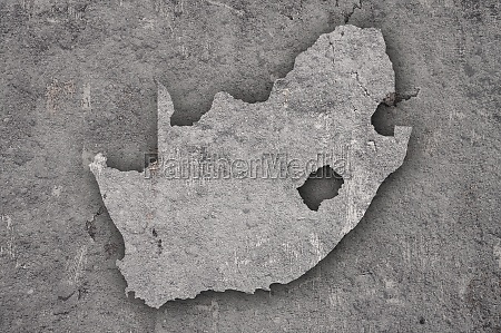 map of south africa on weathered