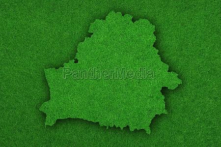 map of belarus on green felt