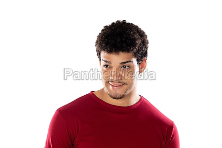 cute african american man with afro
