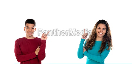attractive happy young multiethnic couple