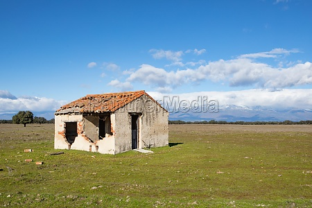 abandoned and ruined house in the