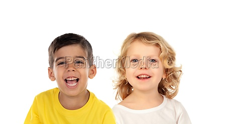 two different children looking at camera