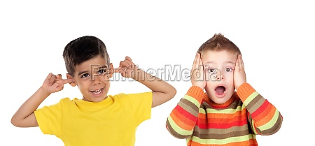 two funny children