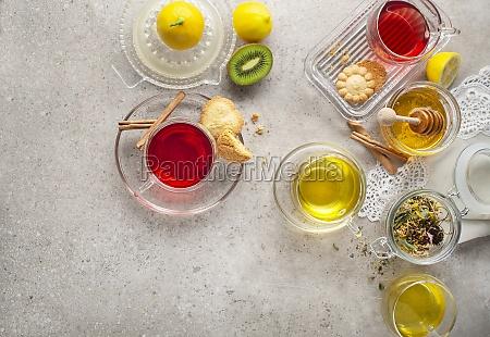 herbal fruit tea cup