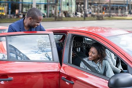 carpool ride sharing african people