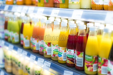 variety of cold drink products put