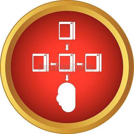 cloud computing connection icon simple style