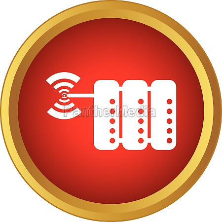 database and wi fi sign icon