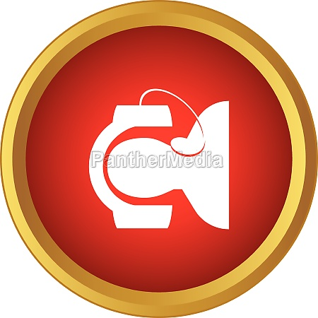 call center operator icon simple style