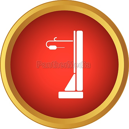 hospital bed icon simple style