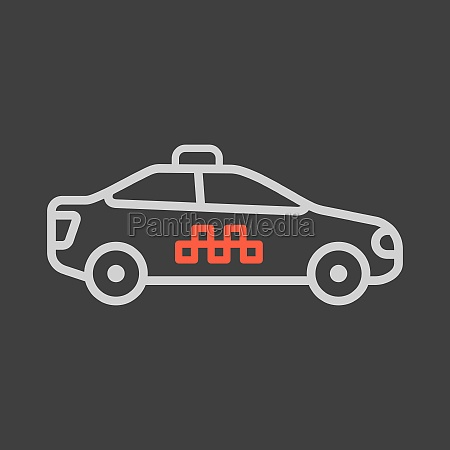 taxi car flat vector icon isolated