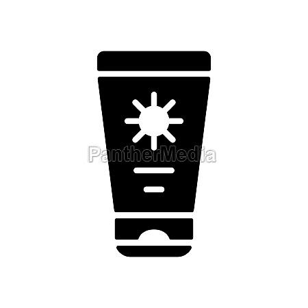 sunscreen cream in tube flat vector