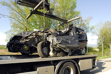 car wreck after car accident with