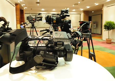 video camera for recording and broadcasting