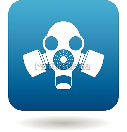 gas mask icon in simple style